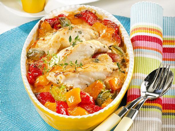 Paprika-Fisch-Auflauf Rezept