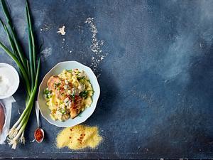 Paprika-Hähnchen Mit Ricotta-Polenta Rezept