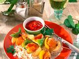Paprika-Hähnchen-Schaschlik Rezept