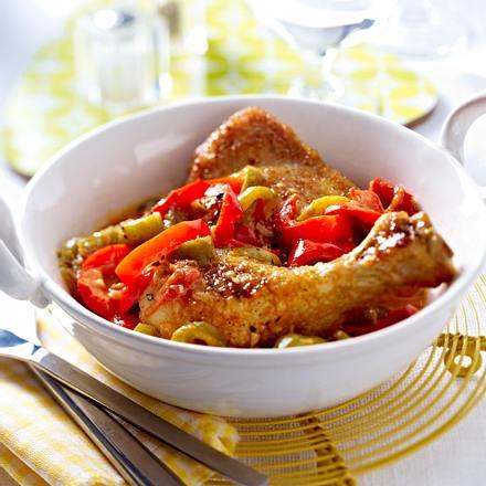 Paprika-Hühnchen-Schmortopf Rezept