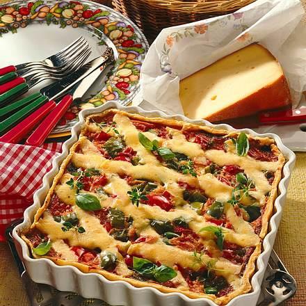 Paprika-Käse-Quiche Rezept