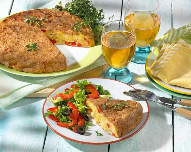 Paprika-Kartoffel-Tortilla Rezept