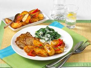 Paprika-Kartoffeln zu Minutensteaks Rezept