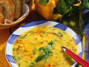 Paprika-Maiscreme-Suppe Rezept