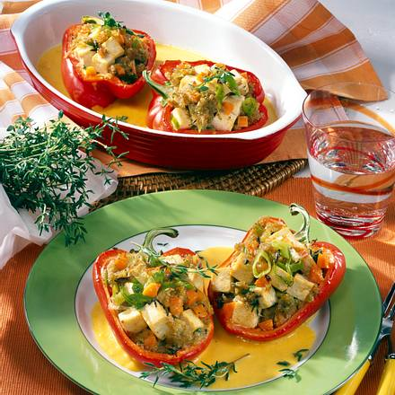 Paprika mit Grünkern-Füllung Rezept