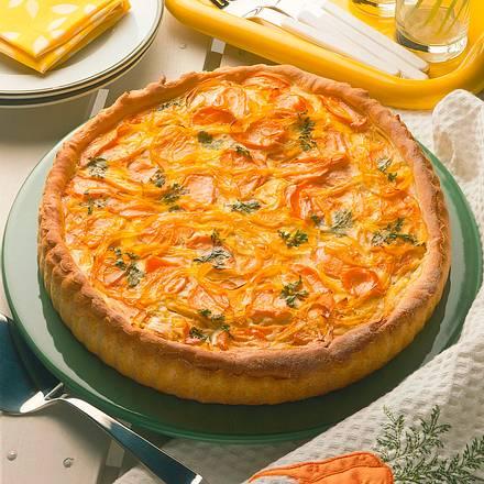 Paprika-Möhren-Pie Rezept