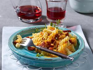 Paprika-Nudelsoße mit Chorizo Rezept