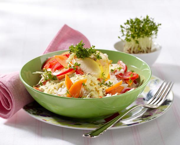 Paprika-Reis-Salat (Diät) Rezept