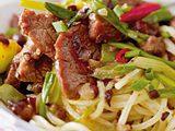 Paprika-Rindfleisch mit Schwarze-Bohnen-Soße Rezept