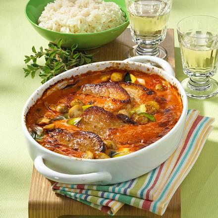 Paprika-Sahne-Schnitzel Rezept