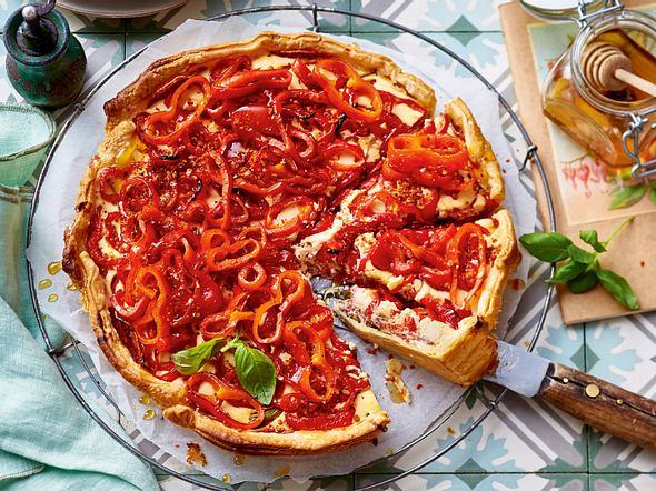Paprika-Salami-Quiche Rezept
