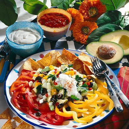 Paprika-Salat à la Mexico Rezept
