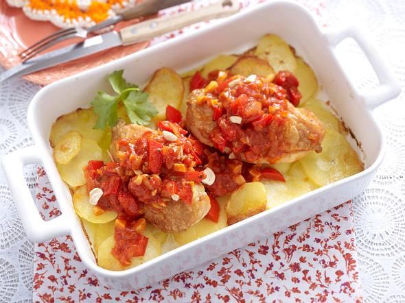 Paprika-Schnitzel aus dem Ofen Rezept