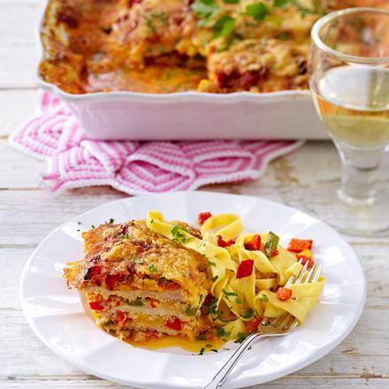 Paprika-Schnitzel-Lasagne Rezept