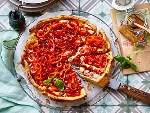 Paprika-Tarte Rezept
