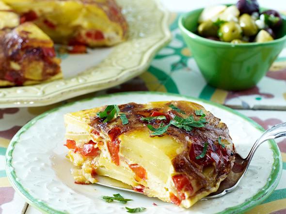 Paprika-Tortilla mit Manchego Rezept