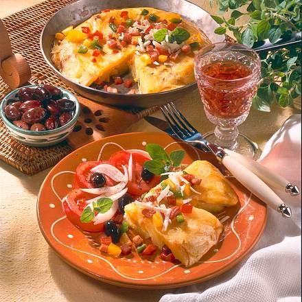 Paprika-Tortilla mit Schafskäse Rezept