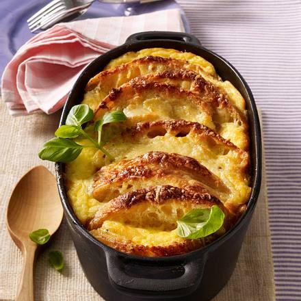 Parmesan-Ciabatta-Pudding Rezept