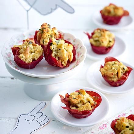 Parmesanmuffins in Bresaolakörbchen Rezept