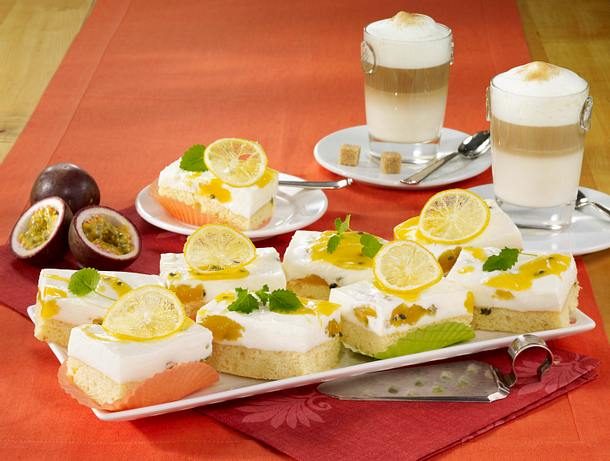 Passionsfrucht-Joghurt-Blechkuchen Rezept