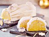 Passionsfruchtsorbet mit geflämmter Baiserkruste rezept