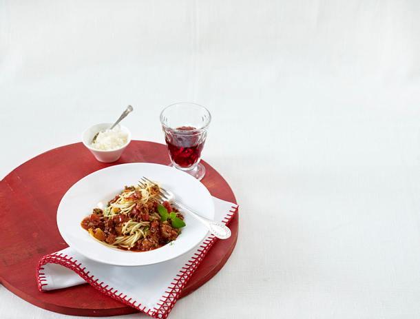 Pasta asciutta (Spaghetti mit Hacksoße) (Leserrezept) Rezept