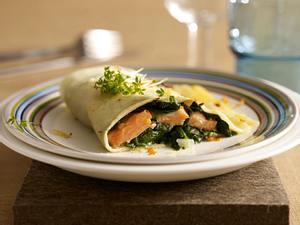 Pasta-Calzone mit Lachs & Spinat Rezept