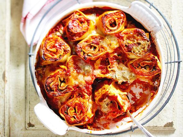 Pasta-Rolls mit Roten Linsen und Zucchini Rezept