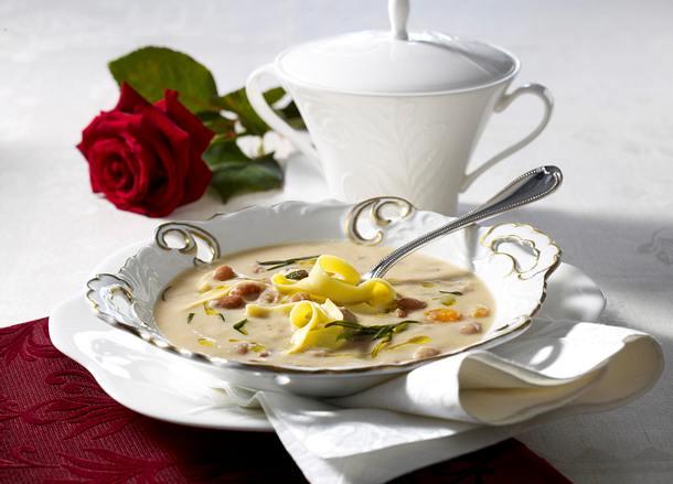 Pasta und Bohnen venezianische Art (Pasta e fagioli alla Veneta) Rezept