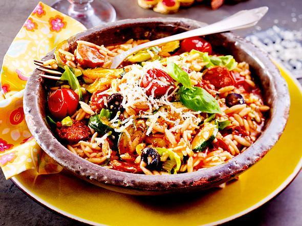 Pastasotto mit Chorizo und Zucchini Rezept