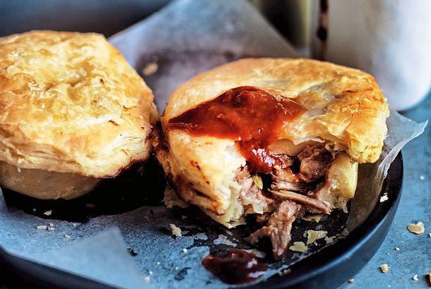 Pastetchen, gefüllt mit Pulled Pork Rezept