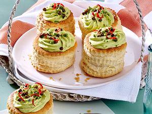 Pasteten mit Zucchini-Käsecreme Rezept