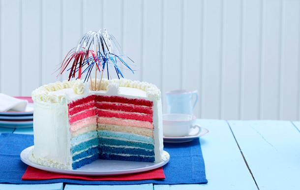 Patriotic Ombre Cake Rezept