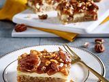 Pecan-Shortbread-Cheesecake-Würfel Rezept