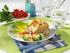 Pellkartoffel mit Broccoli-Ragout Rezept