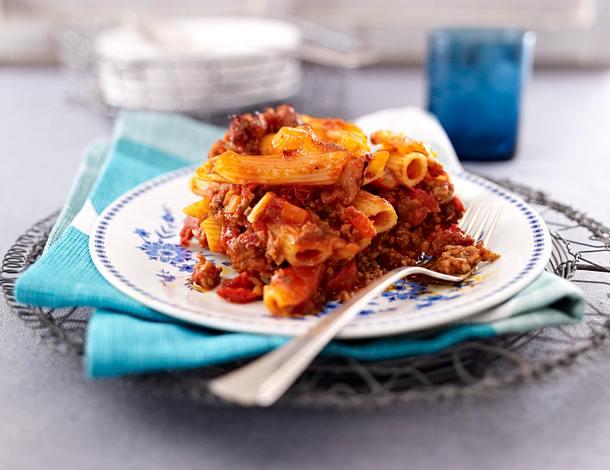 Penne al Forno mit spicy Bolo Rezept