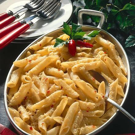 Penne mit Parmesan und Chilischoten Rezept