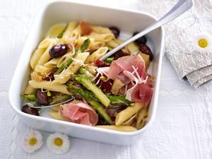 Penne-Spargel-Salat mit Parmaschinken Rezept