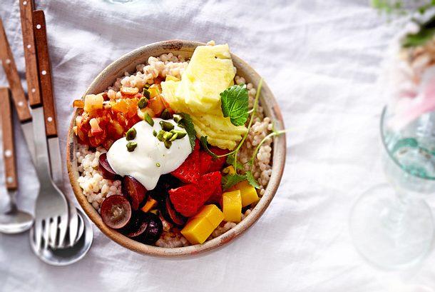 Perlgraupen-Porridge (süß) Rezept