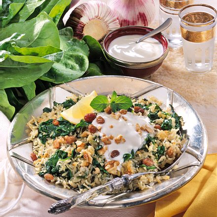 Persischer Spinat-Reis Rezept
