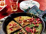 Persisches Spinat-Kräuter-Omelette Rezept