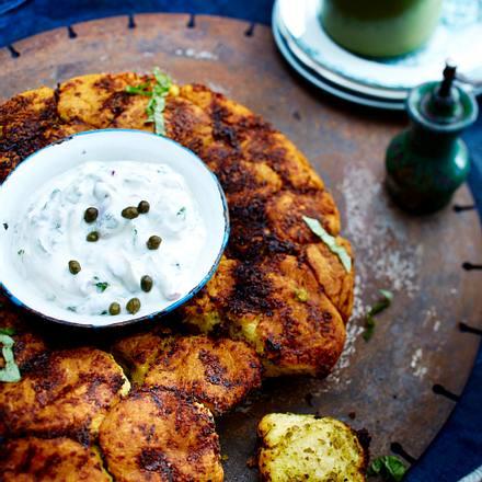 Pesto-Monkey-Bread mit Kräuterquark Rezept