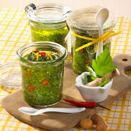 Petersilien-Chili-Pesto Rezept