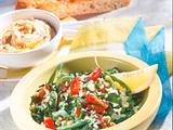 Petersilien-Rauke-Salat mit Kichererbsenpüree Rezept