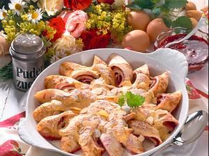 Pfannekuchen-Röllchen mit Eierguß Rezept
