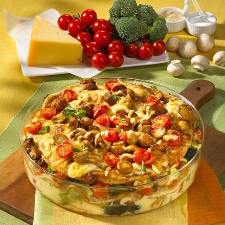 Pfannkuchen-Gemüse-Auflauf Rezept