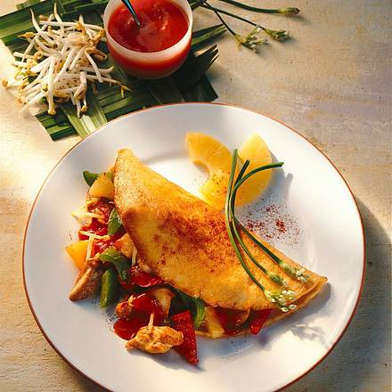 Pfannkuchen mit chinesischer Füllung Rezept