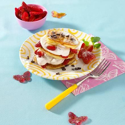 Pfannkuchen mit Erdbeer-Quarkcreme Rezept