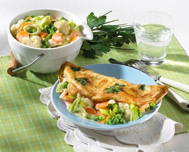 Pfannkuchen mit Gemüsefüllung Rezept