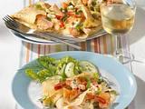 Pfannkuchen mit Lachs und Shrimps Rezept